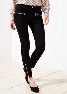 LOFT Curvy Zip Skinny Jeans in Black