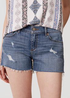 Cut Off Denim Shorts in Classic Light Indigo Wash
