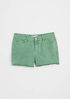 LOFT Cut Off Denim Shorts in Wishbone Wash