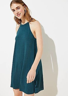 LOFT Cutout Back Halter Swing Dress