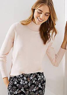 LOFT Cutout Button Back Turtleneck Sweater
