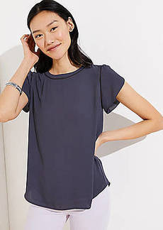 LOFT Cutout Button Back Top