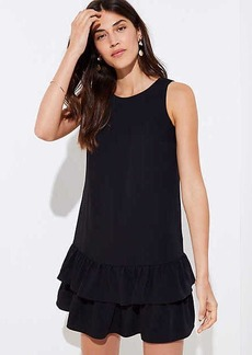 LOFT Cutout Flounce Swing Dress