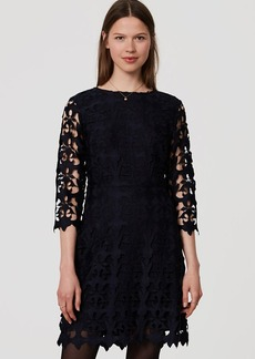 LOFT Cutout Lace Dress