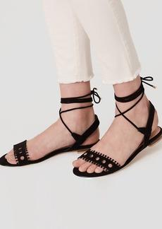 Cutout Lace Up Sandals