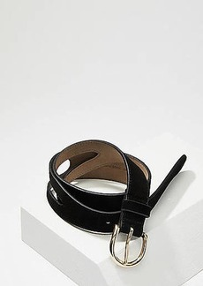 LOFT Cutout Suede Belt