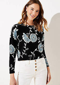 LOFT Daisy Cropped Sweater