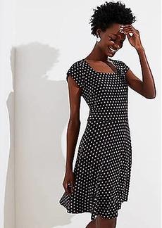 LOFT Daisy Square Neck Flare Dress