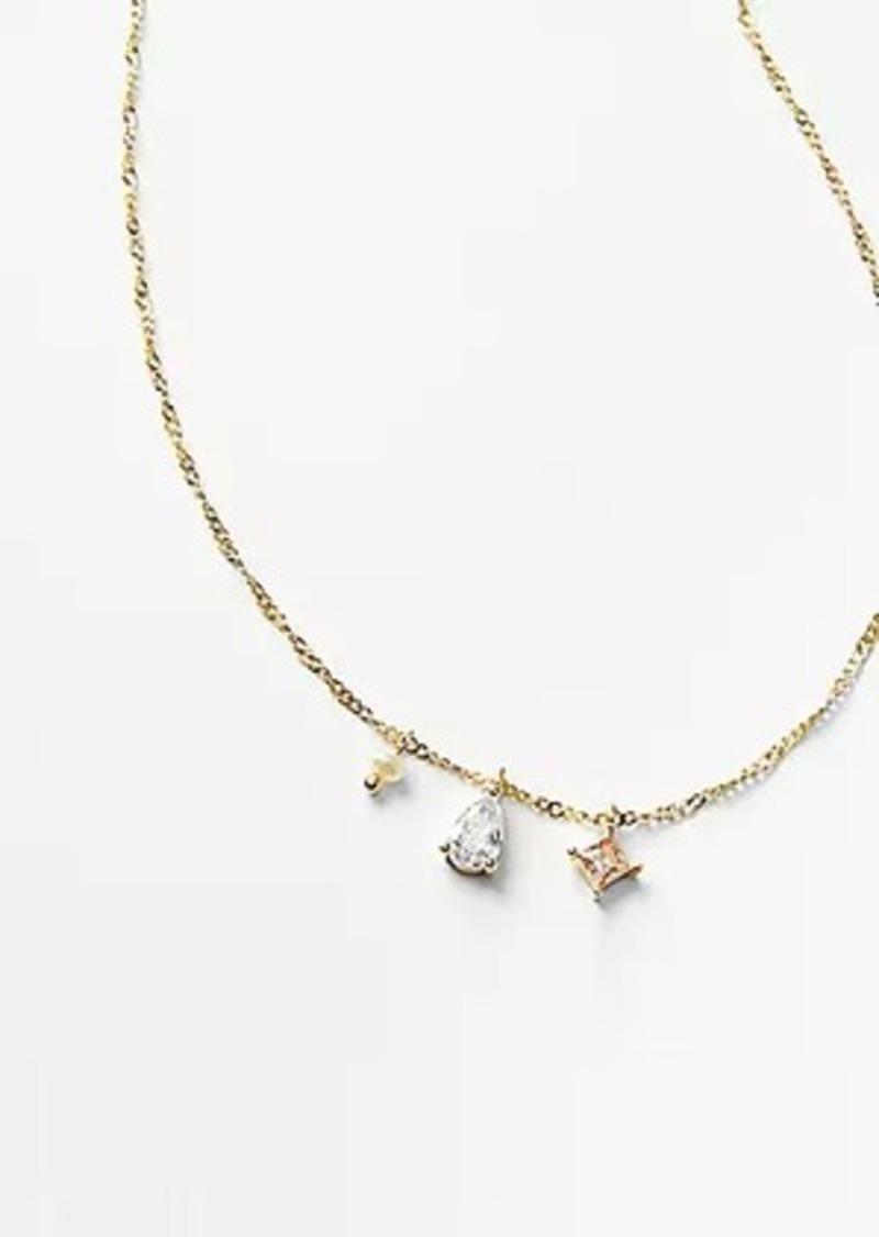 LOFT Demi-Fine Cluster Charm Necklace