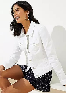 LOFT Denim Jacket in White