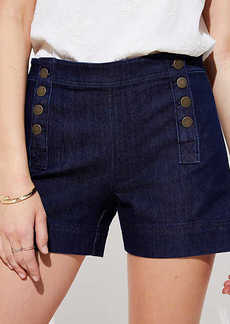 LOFT Denim Sailor Shorts in Dark Rinse Wash