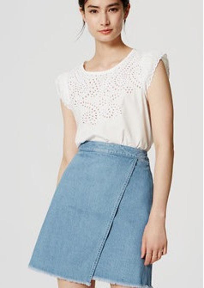LOFT Denim Wrap Skirt