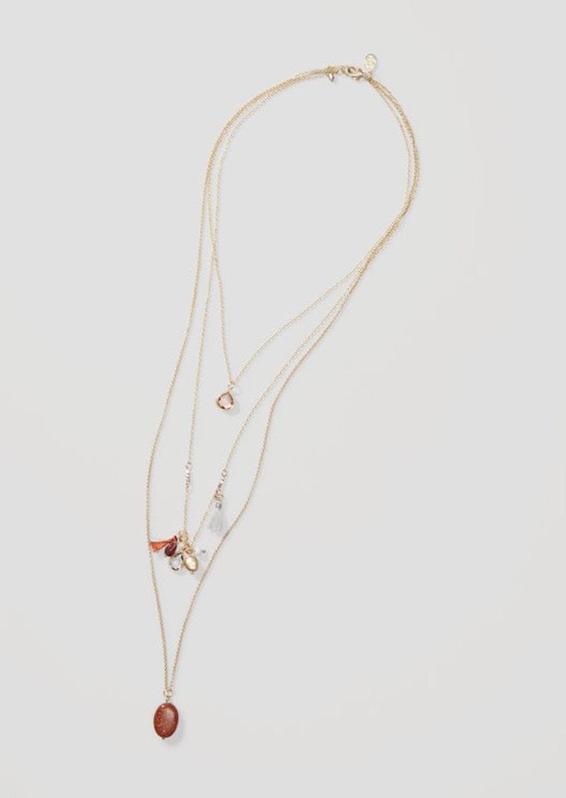 LOFT Desert Sunset Multistrand Pendant Necklace