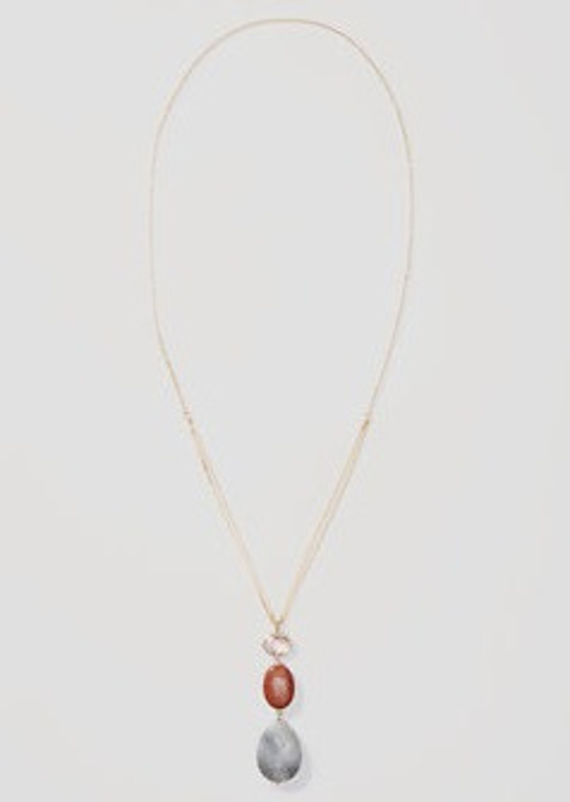 LOFT Desert Sunset Pendant Necklace