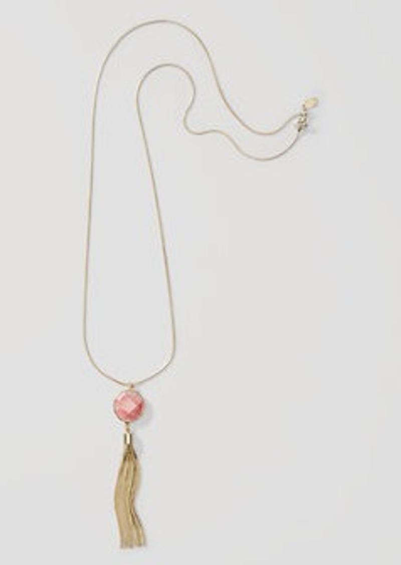 LOFT Desert Sunset Tassel Necklace