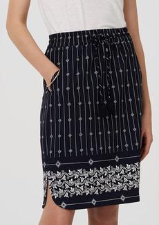 Diamante Drawstring Pencil Skirt