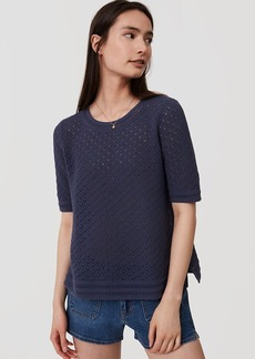 LOFT Diamond Crochet Sweater