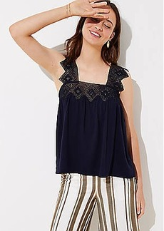 LOFT Diamond Lace Trim Tank