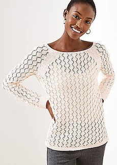 LOFT Diamond Open Knit Sweater