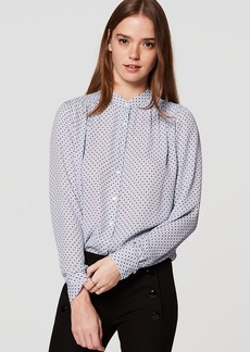 LOFT Diamond Puff Sleeve Blouse