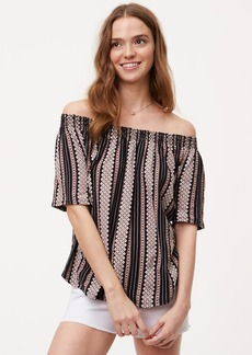 Diamond Stripe Off The Shoulder Vintage Soft Tee
