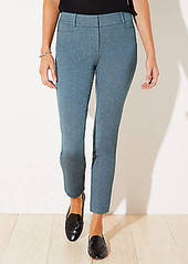 LOFT Diamond Textured Skinny Ankle Pants in Curvy Fit