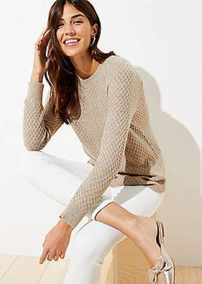 LOFT Diamond Textured Sweater