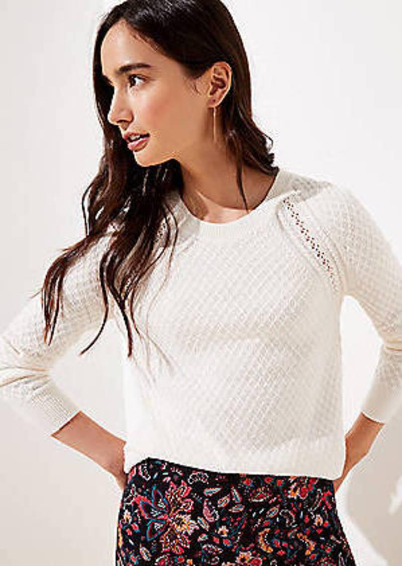 LOFT Diamond Textured Sweater