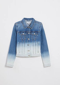 LOFT Dip Dye Modern Denim Jacket