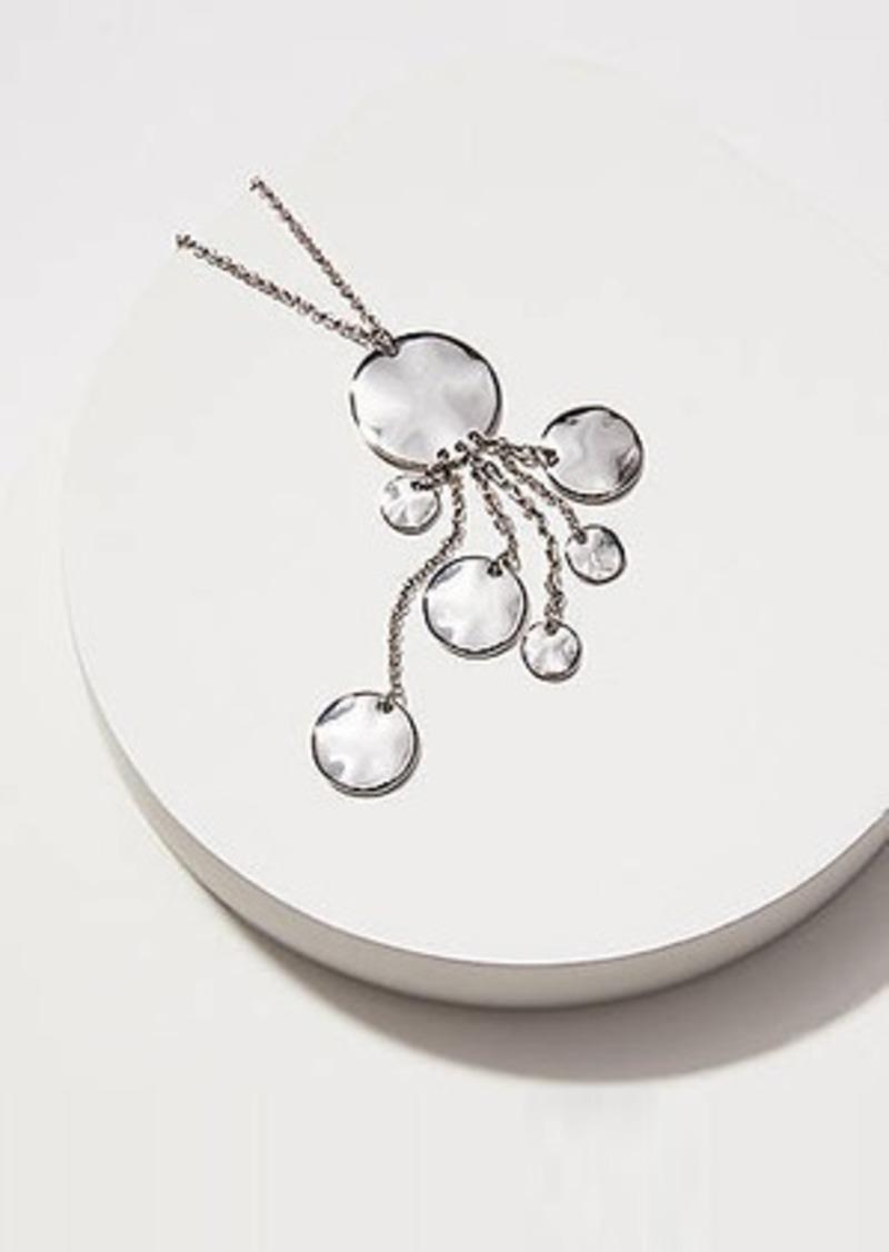 LOFT Disc Dangle Pendant Necklace