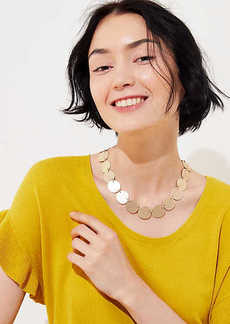 LOFT Disc Statement Necklace
