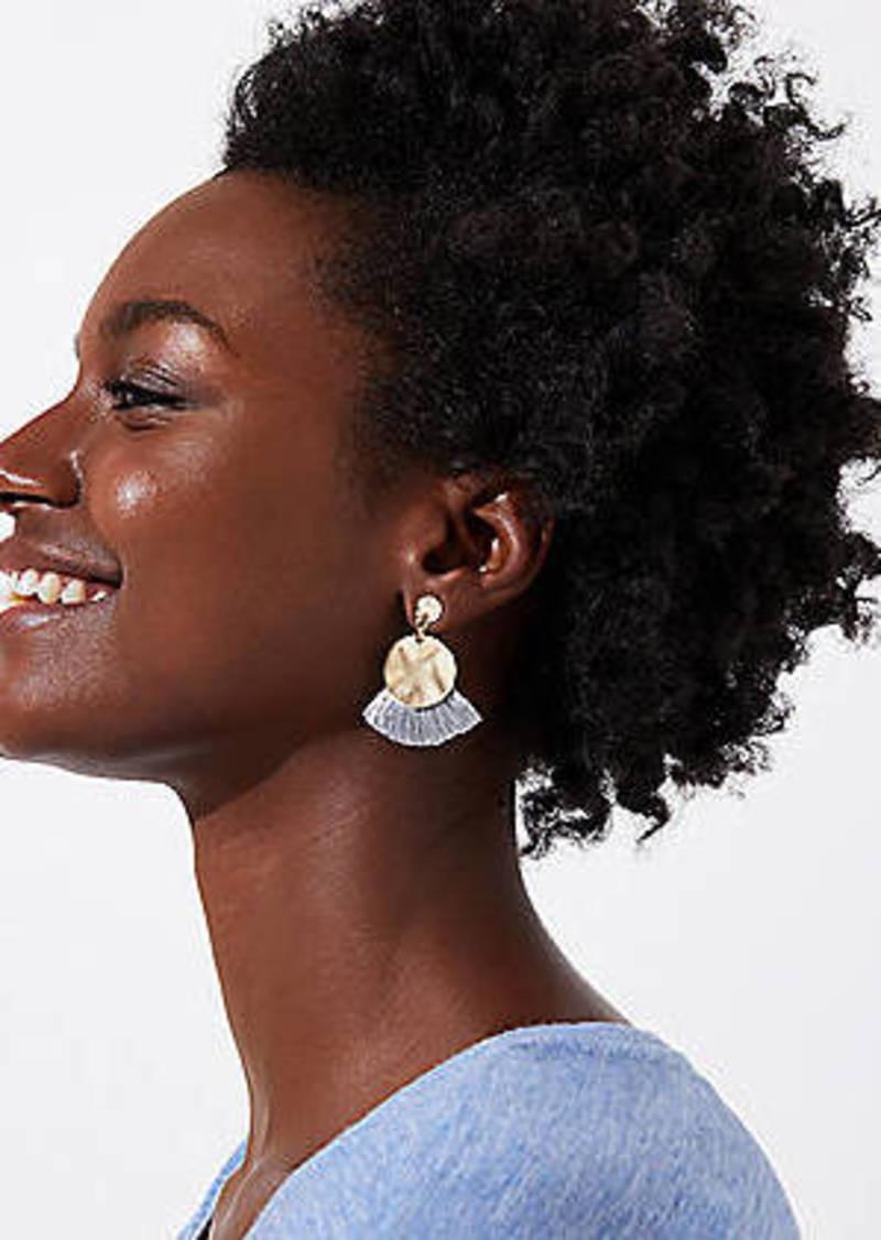 LOFT Disc Tassel Drop Earrings