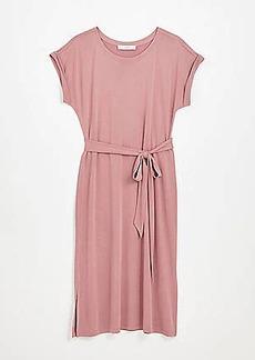 LOFT Dolman Tie Waist Midi Dress