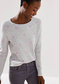 LOFT Dot Jacquard Sweater