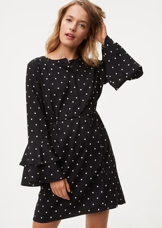 Dotted Bell Sleeve Dress