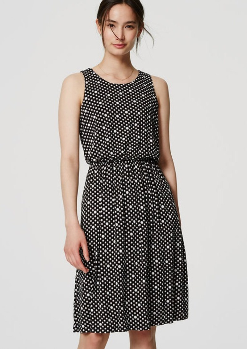 LOFT Dotted Blouson Dress