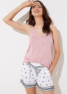 LOFT Dotted Border Tie Waist Shorts