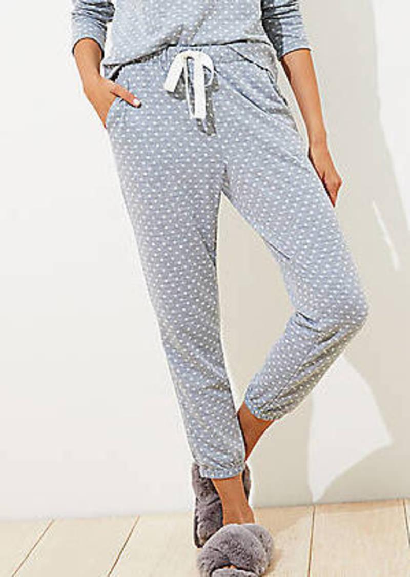 LOFT Dotted Cozy Pajama Pants