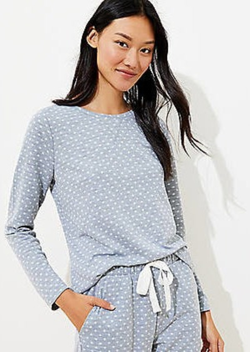LOFT Dotted Cozy Pajama Top