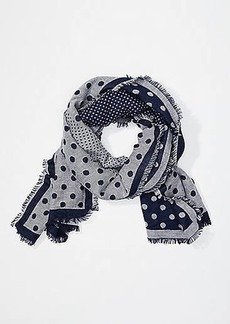 LOFT Dotted Cozy Reversible Scarf