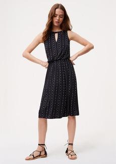 Dotted Keyhole Dress