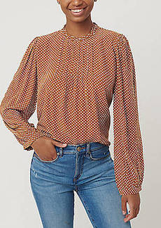 LOFT Dotted Pintucked Blouse
