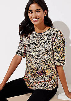 LOFT Dotted Puff Sleeve Top