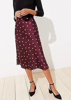 LOFT Dotted Pull On Midi Skirt