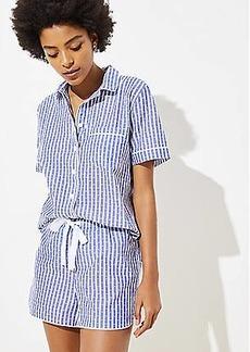 LOFT Dotted Stripe Pajama Shorts