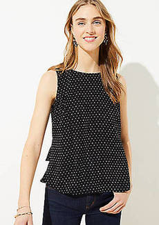 LOFT Dotted Tiered Button Back Shell