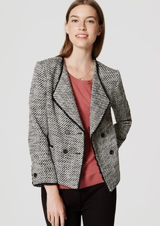 LOFT Double Breasted Tweed Jacket