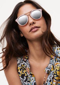 LOFT Double Bridge Round Sunglasses