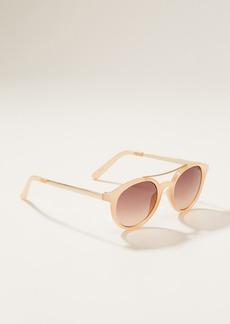 LOFT Double Bridge Round Sunglasses
