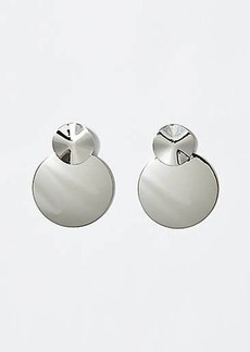 LOFT Double Disc Drop Earrings